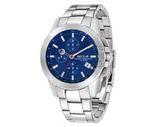 Chronograph Quarz Uhr mit Edelstahl Armband R3273797004