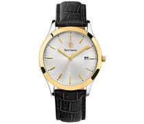Herren Analog Quarz Uhr mit Leder Armband 231G023