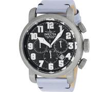 Chronograph Quarz Uhr mit Leder Armband 23092
