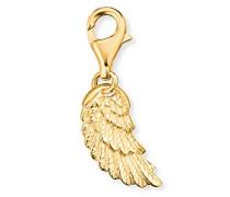 Flügel Charm für vergoldetes 925er-Sterlingsilber Größe 18 mm