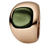 Damen-Ring Edelstahl teilvergoldet Quarz grün