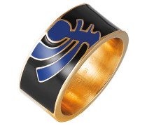 Ring 925 Sterling Silber Edelstahl rhodiniert Kunststoff Totem