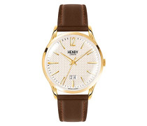 Datum klassisch Quarz Uhr mit Leder Armband HL41-JS-0016