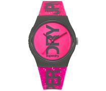 Analog Quarz Uhr mit Silikon Armband SYL189PP