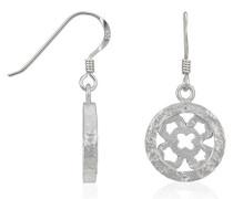 Ohrhänger 925 Sterling Silber rhodiniert mattiert Zirkonia weiß ZO-5251