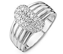 Ring 925 Silber rhodiniert Zirkonia Rundschliff
