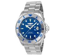 23399 Pro Diver Uhr Edelstahl Quarz blauen Zifferblat