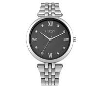 Datum klassisch Quarz Uhr mit Aluminium Armband LP542