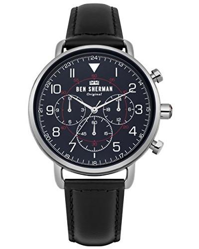 Multi Zifferblatt Quarz Uhr mit Leder Armband WB068UB