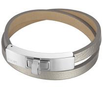 Armband Edification Edelstahl rhodiniert Leder 20 cm - JPBR10360A200