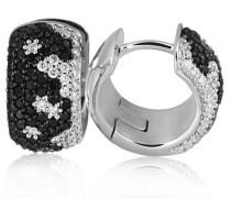 Creolen Weiss Gold 750 106 schwarze Diamanten 54 weisse Diamanten SI/H 1