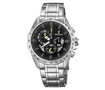 Erwachsene Chronograph Quarz Uhr mit Edelstahl Armband F6864/6