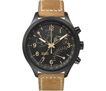 Armbanduhr XL T-Series Fly-Back Chronograph Analog LederT2N700D7
