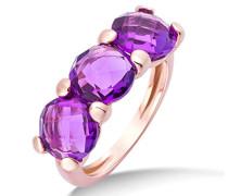 Ring 9 Karat (375) Rosegold 4.5 ct, Lila (Amethyst)