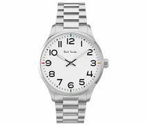 Analog Quarz Uhr mit Edelstahl Armband P10063