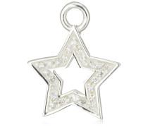 Ohring Einhänger für Creolen 925 Silber Zirkonia Sternform LD MR 37