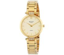 Analog Quarz Uhr mit Edelstahl beschichtet Armband 12210963