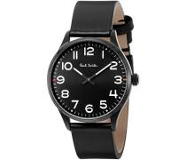 Herren Analog Quarz Uhr mit Leder Armband P10062