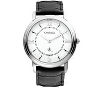 Herren-Armbanduhr XL Analog Leder 155-6701-14