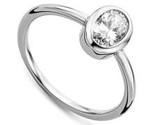 Damen-Ring 925 Sterling Silber Solitär Zirkonia