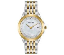 Analog Quarz Uhr mit Edelstahl Armband 98S161