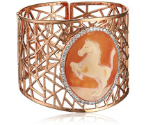 Damen-Armband Muschel Braun Ovalschliff