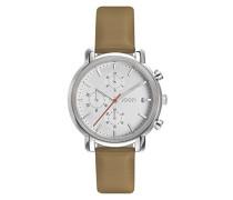 Chronograph Quarz Uhr mit Leder Armband JP101952003