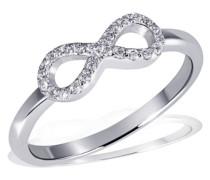 Ring Infinity 925 Sterlingsilber 24 weiße Zirkonia