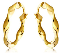 Ohrringe Damen Gelbgold 9 Karat/375 Gold Creolen