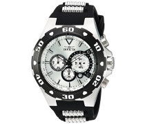 Herren Chronograph Quarz Uhr mit PU Armband 24678
