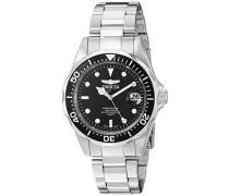 8932 Pro Diver Uhr Edelstahl Quarz schwarzen Zifferblat
