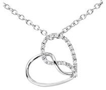 Damen-Halskette 375 Weißgold 9 Karat