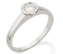 MC001WBR 18 Karat (750) Weißgold Solitär Ringe mit IGI Zertifikat für Brillant 0