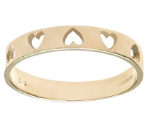Damen-Ring 375 Gelbgold 9 Karat Diamant