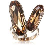 Ring Bahamas Vergoldet teilvergoldet Kristall orange Ringgröße verstellbar - BBAAOC03