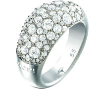 Damen-Ring 925 Silber Zirkonia weiß Rundschliff