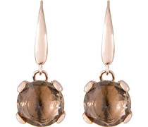 Ohrhänger Smoky Bronze Metalllegierung teilvergoldet Quarz braun - WSBZ00347S