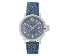 Datum klassisch Quarz Uhr mit Leder Armband NAPSYD009