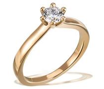 Solitär Ring 6er Stotzen 750 Gold 1 Brillant Si 1 weiß 0