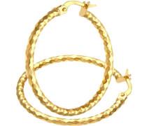 Damen-Ohrringe Creole 375 Gelbgold SIL1309Y