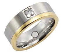 Verlobungsringe Edelstahl zirkonia '- Ringgröße 66 (21.0) 389070130-066