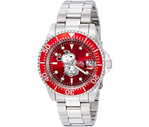 24784 Character - Snoopy Uhr Edelstahl Automatik roten Zifferblat
