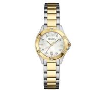 Diamond 98W217 - Designer-Armbanduhr - Edelstahl - modischer Stil - Goldfarben