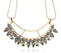 Halskette Messing Dome vergoldet