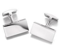 Sterling Silber Einfache Rechteckige Manschettenknöpfe