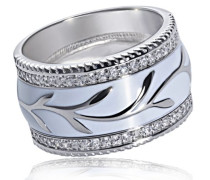 Damen-Ring 925 Sterling Silber Zirkonia