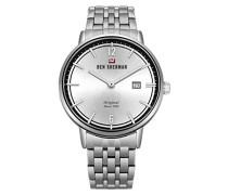 Datum klassisch Quarz Uhr mit Edelstahl Armband WBS101SM