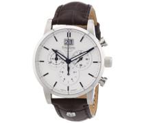 Bruno Söhnle Armbanduhr XL Idas Chronograph Quarz Leder 17-13084-241