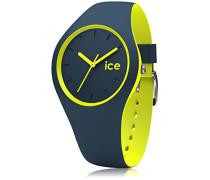 Ice Duo Safety Blue - Blaue Herrenuhr mit Silikonarmband - 012970 (Small)