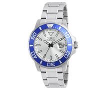 21569 Pro Diver Uhr Edelstahl Quarz Silbernen Zifferblat